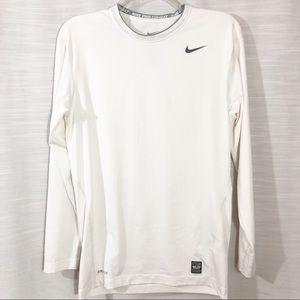 NIKE white Dri-Fit Compression shirt Size XL